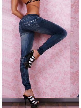 Denim Studded Leggings