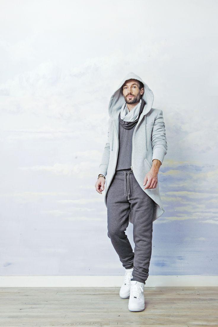 gray cotton tail coat. cotton blazer #street style  SAMPLE SALE http://milieubazaar.com