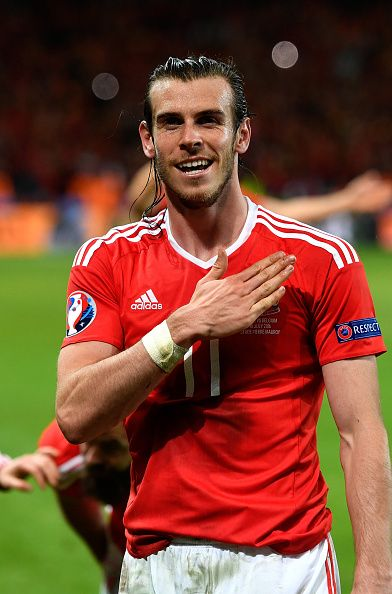 #EURO2016 Gareth Bale of Wales celebrates his team's 31 win after the UEFA EURO…