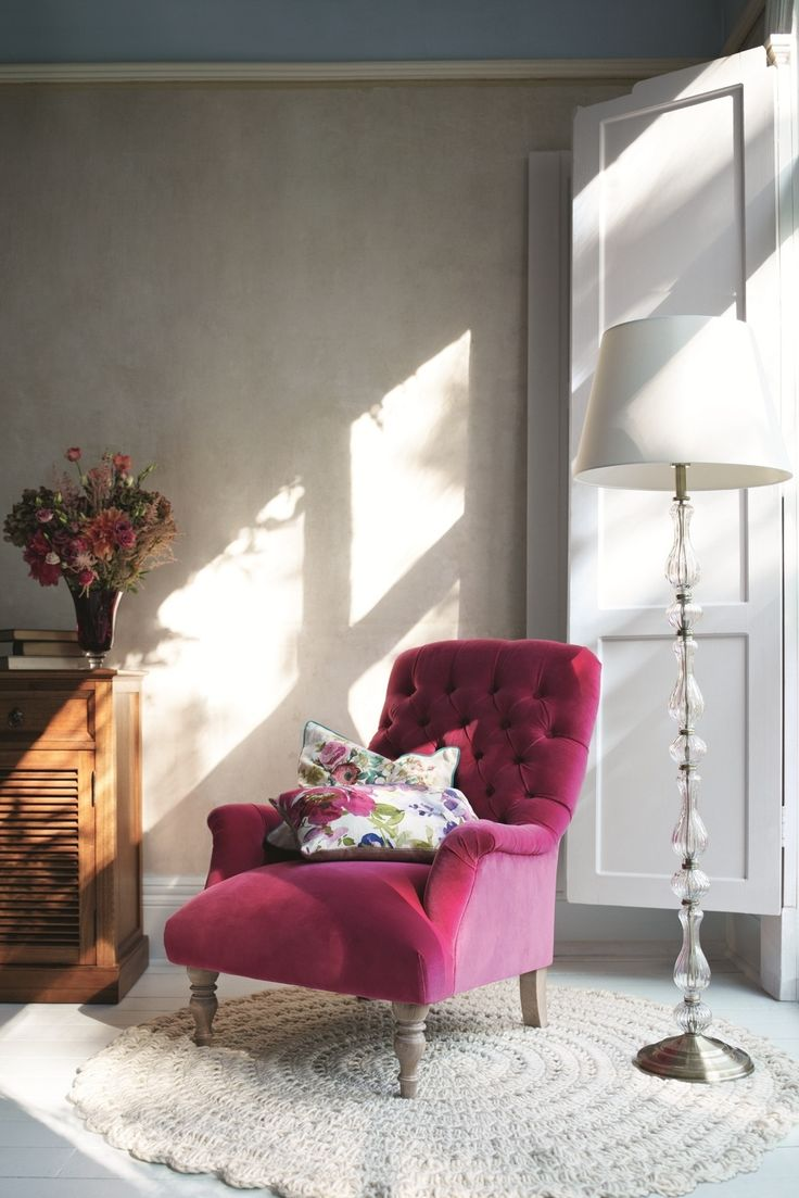 Inject colour into your living room with a bright pink - Elegant floor lamps for living room ...