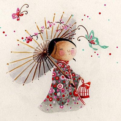 cute! Aquarelle - Pour l'anniversaire… - Etoile - Butterfly - Piou - China - Matriochka - Les petits crayons