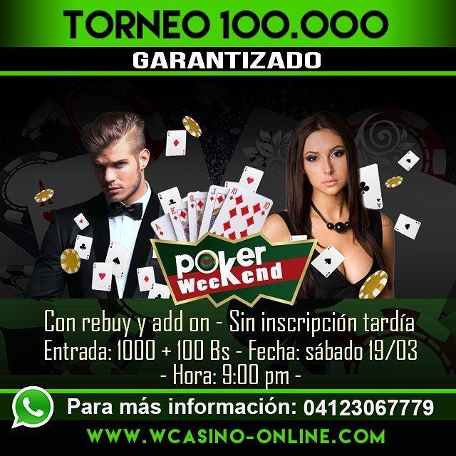 Hoy hay una nueva oportunidad de ganar dinero! Torneo 100K!  Inscríbete ya y sigue acumulando puntos para el Torneo Casino Alhambra - Margarita  #wcasino #casino #casinonight #poker #pokernight #pokerstars #online #jugar #venezuela #juegos #juegosdemesa #jugador #maquina #tragamonedas #tragaperras #dinero #ganadores #premios #sportsbook #bingo #bingoplayers #cool by wcasinopoker