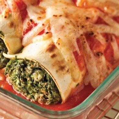 Lasagnes roulées au poulet et feta - Recettes - Cuisine et nutrition - Pratico Pratique