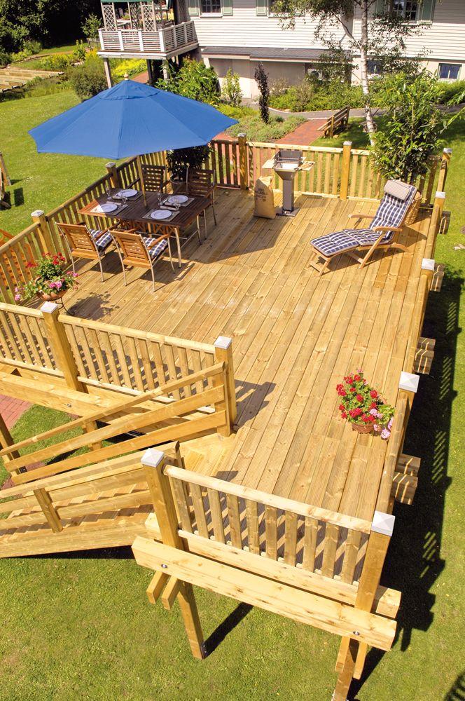 Mit ein bisschen Heimwerkergeschick kann ein Carport auch als Terrasse fungieren. #mehrsein