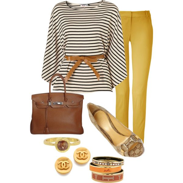Mustard yellow with shades of brown
