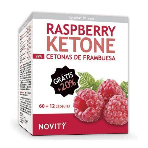 Raspberry ketones (Cetonas de frambuesa) 60+12 cápsulas Novity