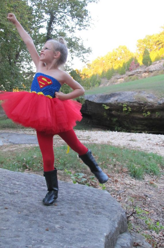 Échantillon vente 3-5 t seul tutu costume de super héros, Super femme Tutu de Superman, Super Hero deguisement, filles super-héros, Superman, Superwoman