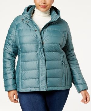 32 Degrees Plus Size Packable Puffer Coat - Green 3X
