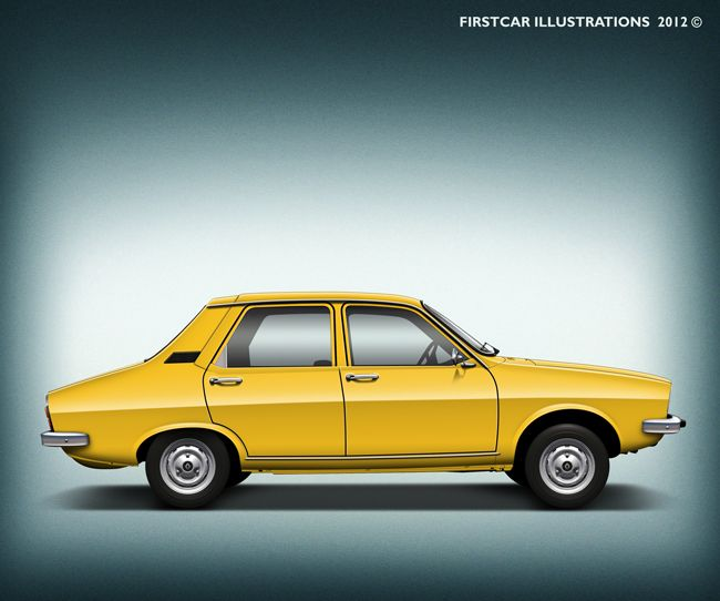 Very very yellow RENAULT 12 from 1977! #firstcar