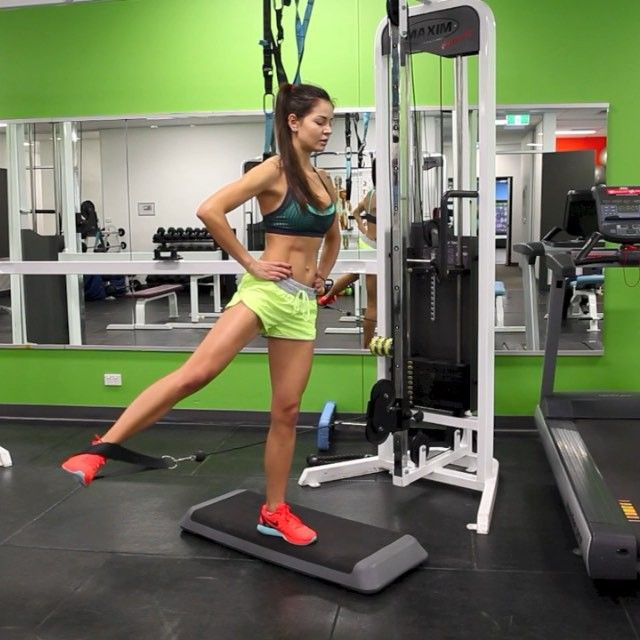 cable machine exercises for glutes