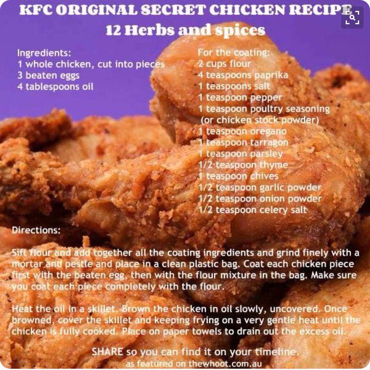 KFC original fried chicken recipe
