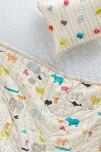 Animal Parade Toddler Play Blanket - anthropologie.com