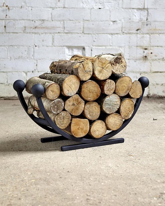 The Half Round Square Log Basket Log Ring Offers Great Storage For Your Logs Or Kindling And Would Compliment Any Fire In 2020 Metal Log Basket Log Baskets Log Holder