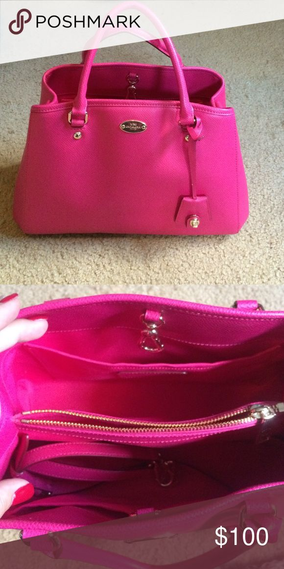 Pink coach purse Beautiful pink coach purses. Used only a few times. Comes with shoulder strap as shown in the pic of the inside of the purse. It's so beautiful! Coach Bags Shoulder Bags