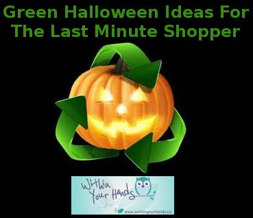 Whether you are heading out to a Halloween party, or just dressing the kids up for a round of trick-or-treating, when it comes to last minute Halloween shopping it can difficult to find green alternatives.