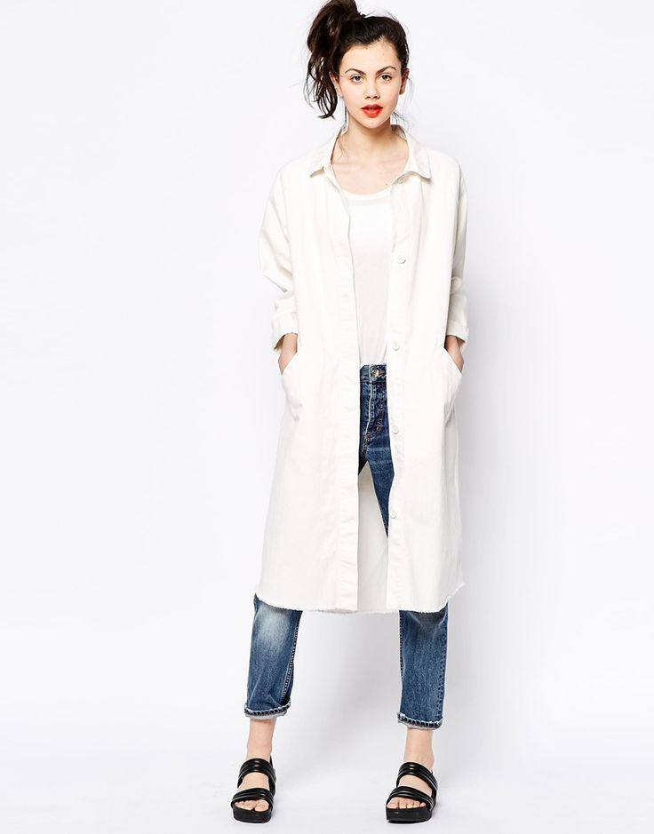 Image 1 of Monki Longline Denim Coat