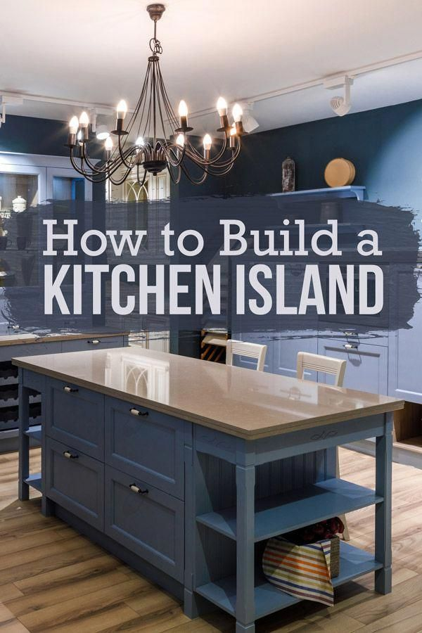 Cut costs by building your own DIY kitchen island