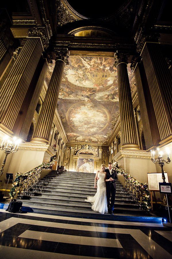 London Wedding Venue: The Royal Naval College  (Greenwich)  Photography by Janis Ratnieks