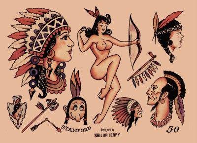 Sailor jerry native american flash