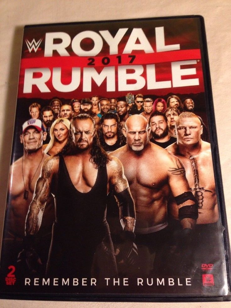 WWE: Royal Rumble 2017 2 Disc Set Wrestling  John Cena AJ Styles Kevin Owens  #WarnerBrothers