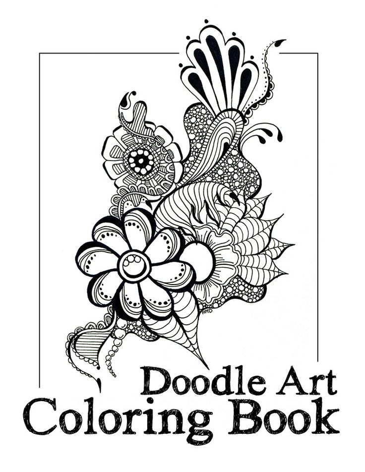 Doodle Art Coloring Book By Heidi Denney 34 Pages Published Over 40 Hand Drawn Doodles To Color This Is Not Just For Kids