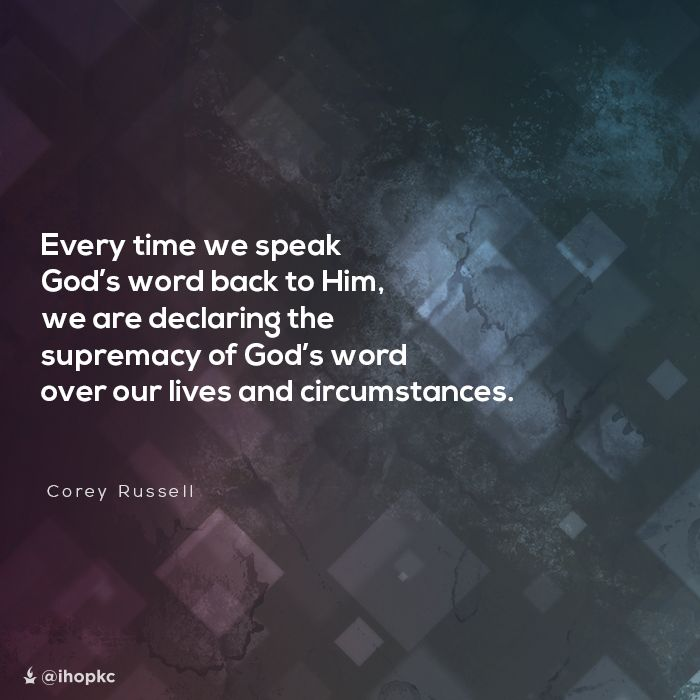 """""""Every time we speak God's word back to Him, we are declaring the supremacy of God's word over our lives and circumstances"""" --Corey Russell #prayer #Onething14 Watch Corey speak on the """"Revelation of Intercession."""""""