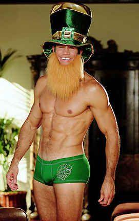 """Lucky Green Bun Hugger"" | 25 Sexy Halloween Costumes For Men That Should NOT Exist"