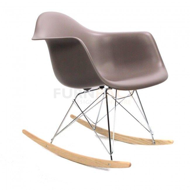 Eames RAR schommelstoel mauve grijs - Charles en Ray Eames