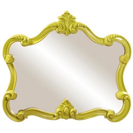 """Howard Elliott Veruca 32"""" x28"""" Green Wall Mirror"""