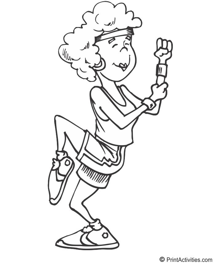 2887 best images about digital stamp on pinterest digi for Exercise coloring pages