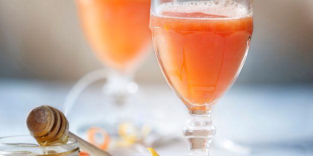 Groene thee met grapefruit en honing.