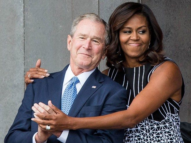 George W. Bush Breaks Down His Affection for Michelle Obama: 'We Just Took to Each Other'   PEOPLE.com
