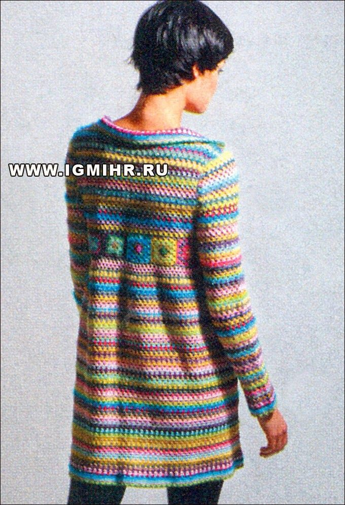 Irish crochet &: Coat stripes