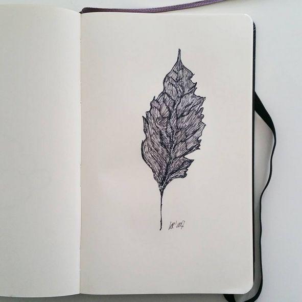 Herfstblad.#inktober #drawing #art #tekening #tekenen