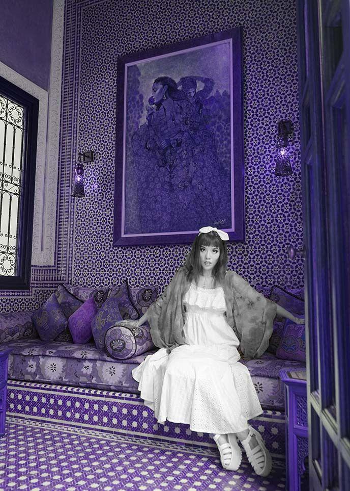 fashion blogger royal mansour marrakesh marrakech riad hotel moroccan interior design art 5 star morocco luxury hotels more on la carmina blo - Purple Hotel 2016