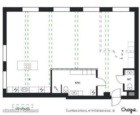 Loft with open kitchen (82,5m2) / Loft-asunto avokeittiöllä (82,5m2) #loft