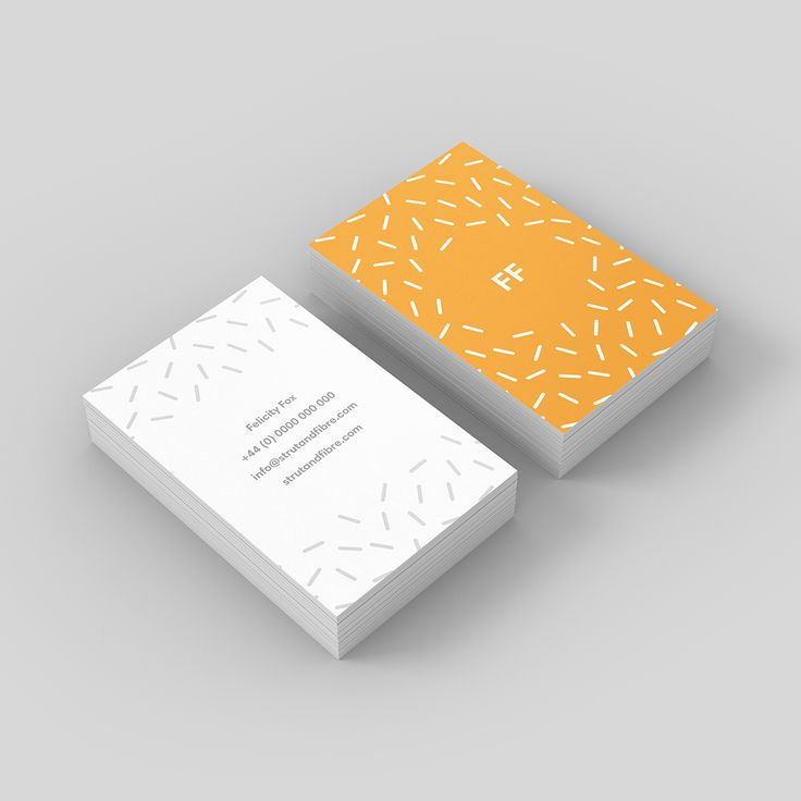 Fox – one of our Pattern business card templates available to customise and order on our site.
