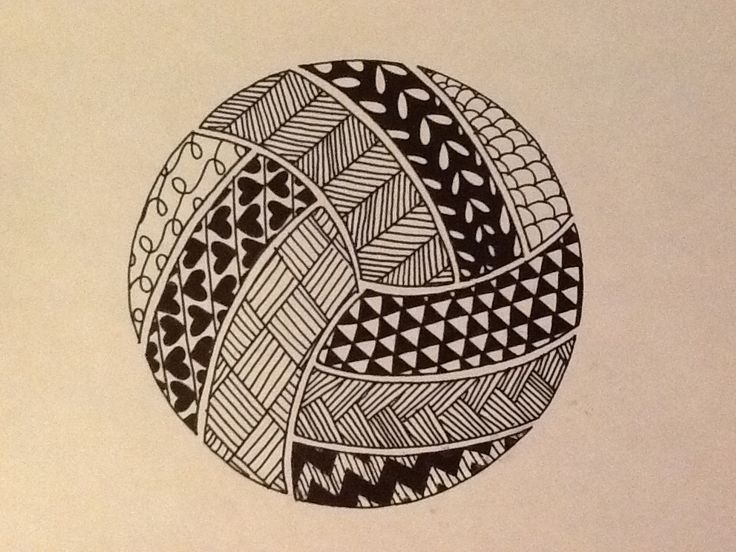 Volleyball zentangle.                                                                                                                                                                                 More