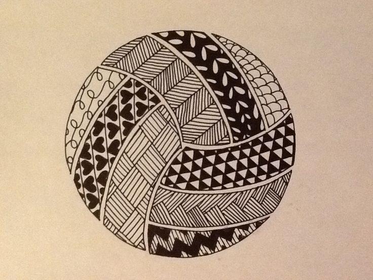 Volleyball zentangle.