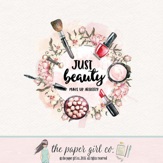 make-up logo beauty logo cosmetics logo makeup от ThePaperGirlCo
