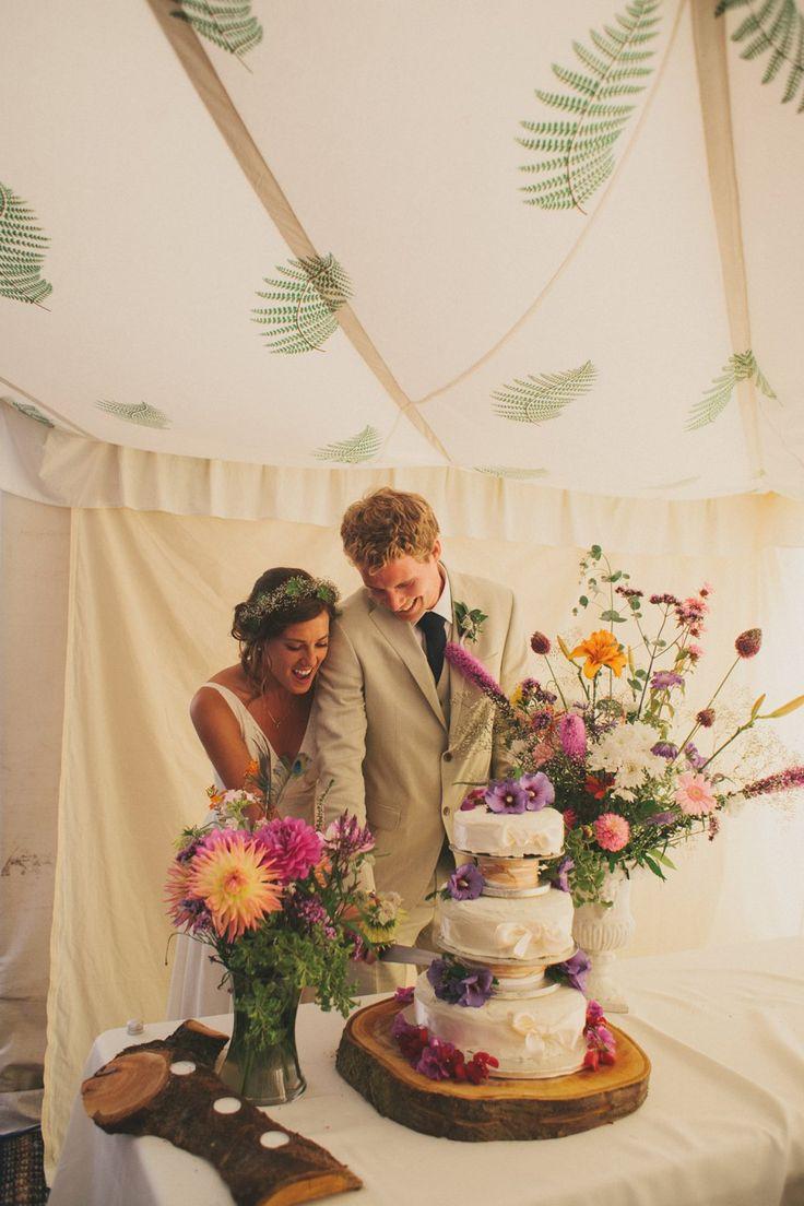 Image by Maureen Du Preez - Laure de Sagazan Cape Boho Outdoor Wedding LPM Bohemia Tent With Fern Lining Red Bridesmaids Dresses Maureen du Preez Photograhy