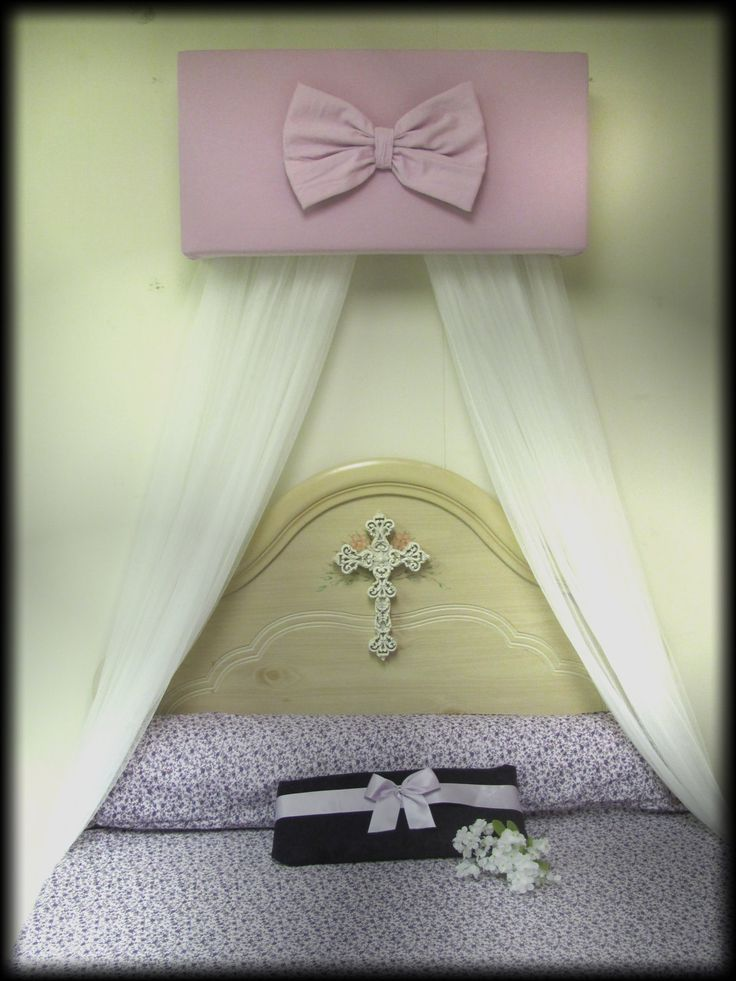 Crib Canopy nursery Bedroom cornice BoX Lavender Baby Girls WHITE sheer curtains Included FrEe Teester Coronet & 241 best Bedroom images on Pinterest | Bed canopies Canopy for ...