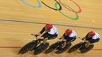 GB pursuit team thrilled with London 2012 gold at world record time 14.051 sec in track cycling