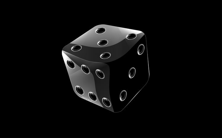 Dice in 3D Design on Black Background Free Stock Photo and