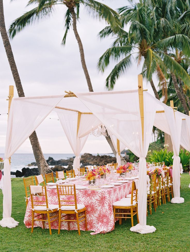 Tropically inspired: http://www.stylemepretty.com/2015/08/15/reception-spaces-that-will-wow-your-guests/