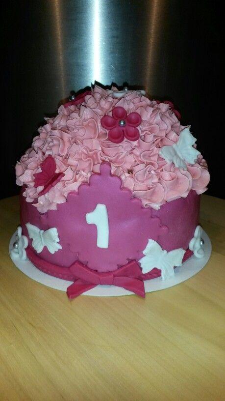 Smash taart meisje
