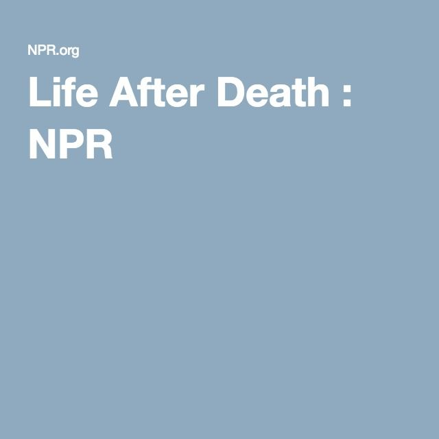 Life After Death : NPR