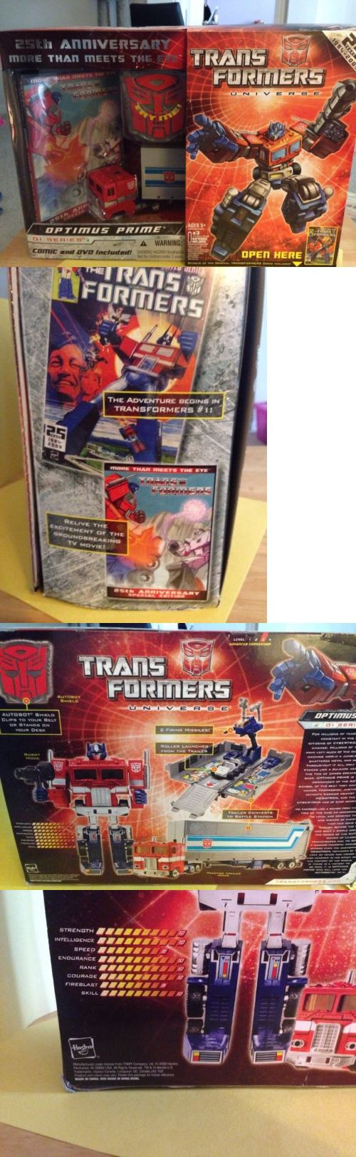Transformers and Robots 83732: Transformers G1 Optimus Prime 25Th Anniversary Figure Dvd Comic Hasbro Niob -> BUY IT NOW ONLY: $80 on eBay!