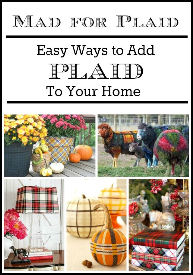 5 On Friday: Mad For Plaid - 5 Ways To Use It In Your Home