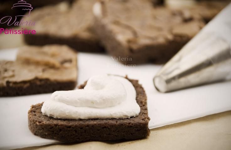 Corazones de brownie para el dia de los enamorados...